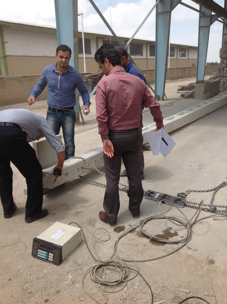 آزمایش پایه بتنی برق ماهان بتن